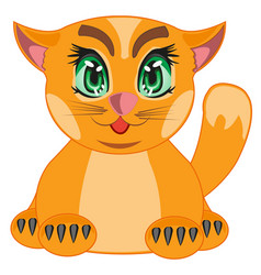 Cartoon redhead cat vector