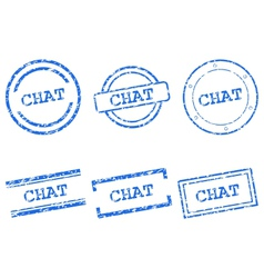 Chat stamps vector image vector image