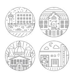 City architecture vector