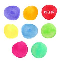 Colorful watercolor design elements watercolor vector