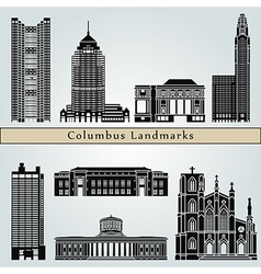 Columbus landmarks and monuments vector