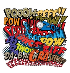 Comic book words explosions vector