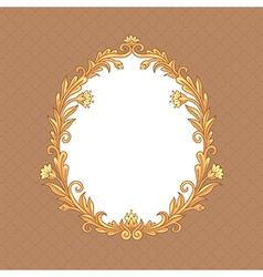 floral baroque vector image vector image
