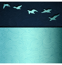 Flying Geese vector image vector image