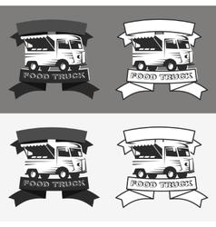 Food truck logo set vector image