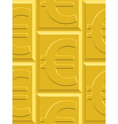 Gold euro pattern vector image vector image