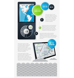 infographics with buttons and menus vector image