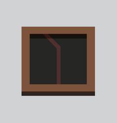 Interior window architecture vector