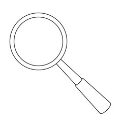 magnifying glass icon in outline style isolated on vector image vector image