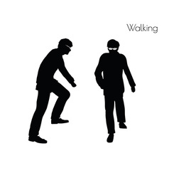 Man in walking pose vector