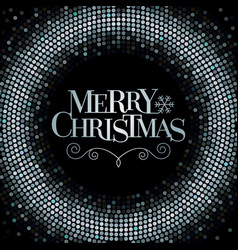 merry christmas glitter background vector image