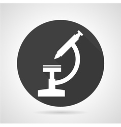 Microscope black round icon vector image
