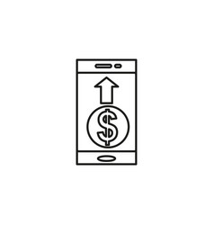 Mobile pay icon vector