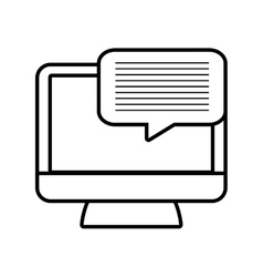 Monitor message technology electronic line vector
