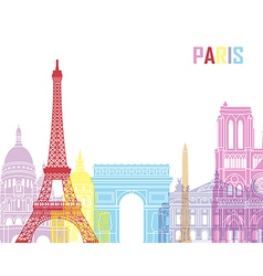Paris skyline pop vector image vector image