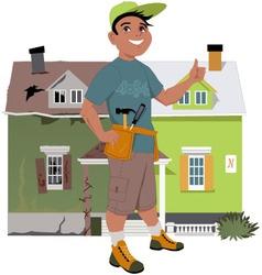 Renovate a house vector