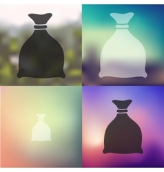 Sack icon on blurred background vector