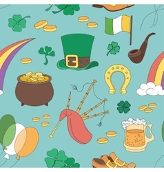 Saint Patricks Day pattern vector image