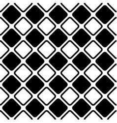Seamless abstract black and white square grid vector