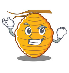 successful bee hive character cartoon vector image