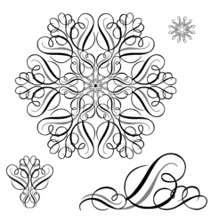 swirl ornament set vector image