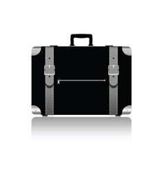 Travel bag with belts in silver color vector
