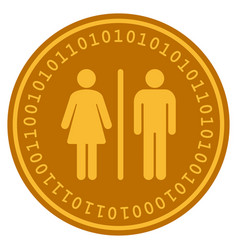 Wc persons digital coin vector