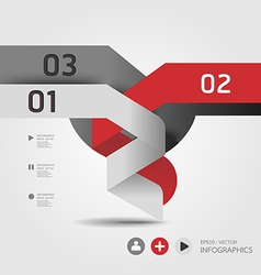modern Design template used for number banner vector image
