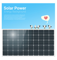 energy concept background with solar panel 1 vector image