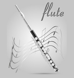 Flute wind musical instruments stock vector