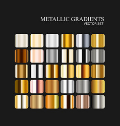 Metallic silver golden and bronze gradient vector