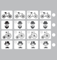 match shadow - worksheet for education vector image