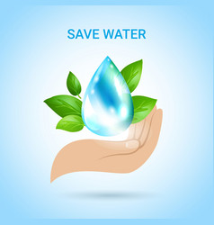 Save water background vector