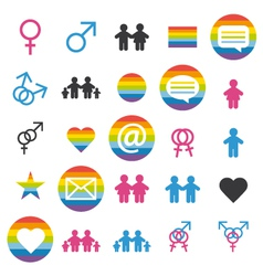 Love family and gays icons and picto vector image