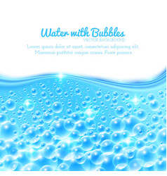 Shining water background with bubbles vector