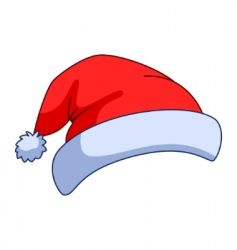 Cap of the santa claus vector