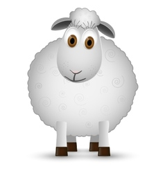 Sheep isolated on white background vector