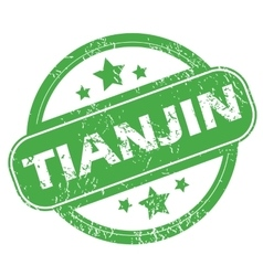 Tianjin green stamp vector