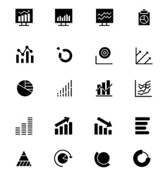 Data analytics icons 3 vector