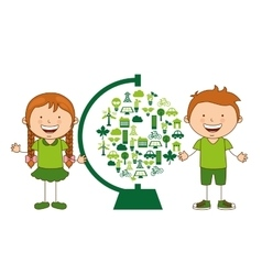 Ecological kids vector