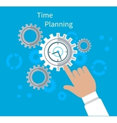 Time planning concept flat design vector