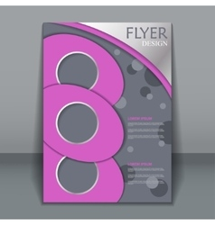 Flyer template business brochure vector