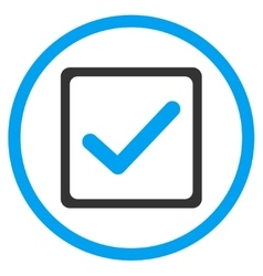 Checkbox flat icon vector