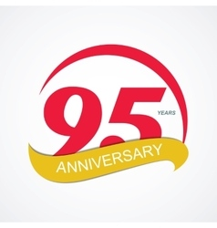 Template logo 95 anniversary vector