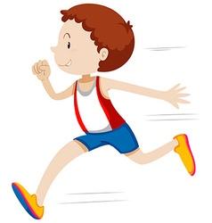 Man running in race vector