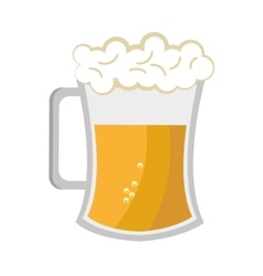 Full beer cup graphic vector