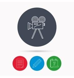 Video camera icon retro cinema sign vector