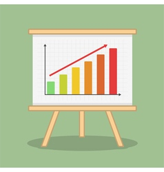 Bar Graph vector image vector image