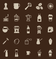 Barista color icon on brown background vector