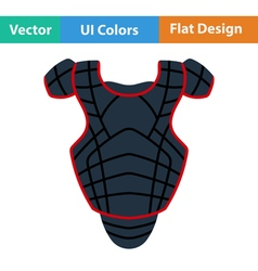 Baseball chest protector icon vector image vector image